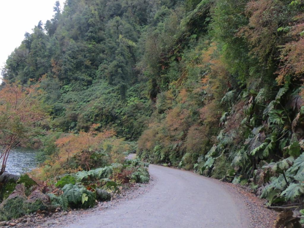 Bild 21 Vägen slingrar sig mellam älven och berget