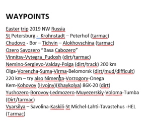 Waypoints easter 2019
